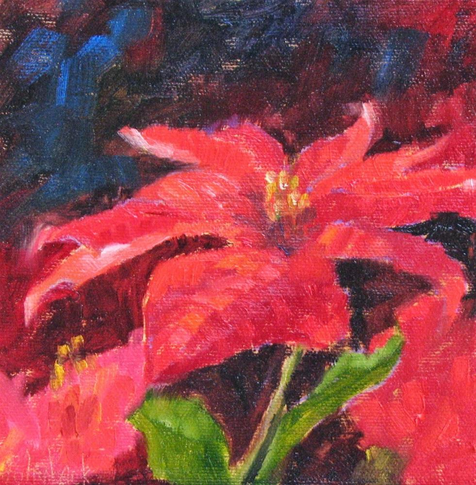"""HOLIDAY OPEN HOUSE -- Christmas Poinsettia #2"" original fine art by Pam Holnback"