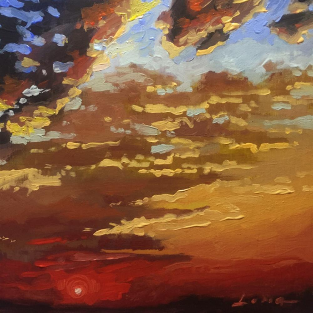 """Red Sun I"" original fine art by Chris Long"