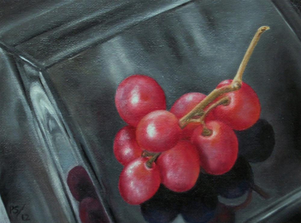 """Red Globe Grapes"" original fine art by Pera Schillings"