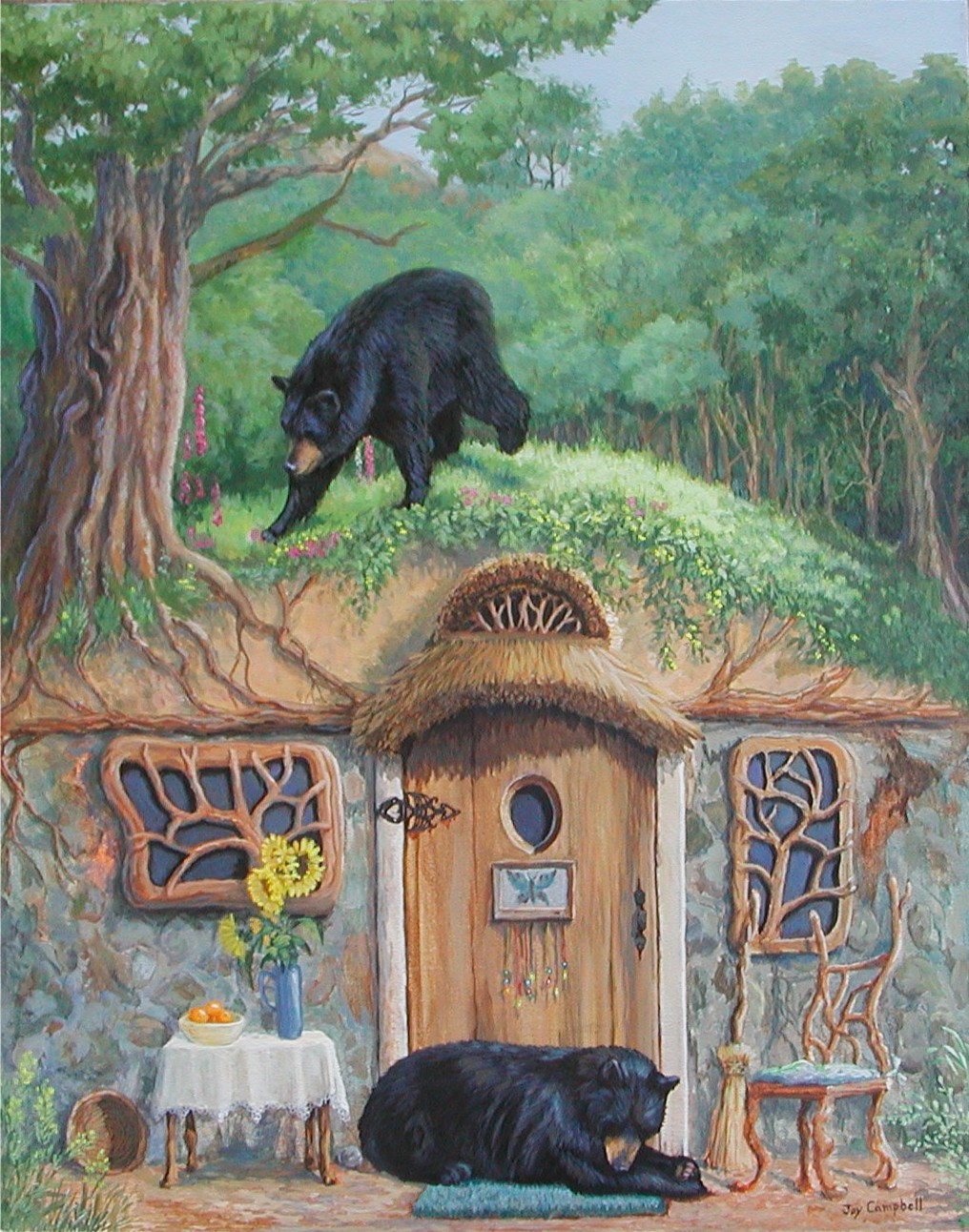 """The Bear's House"" original fine art by Joy Campbell"