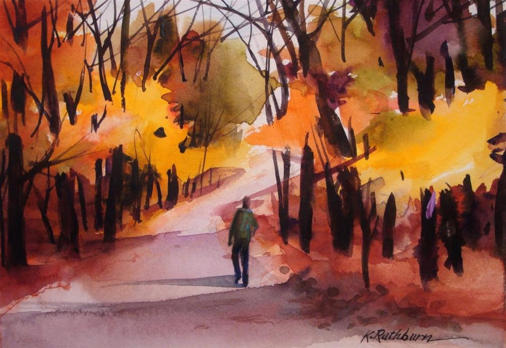 """Fall Demo"" original fine art by Kathy Los-Rathburn"