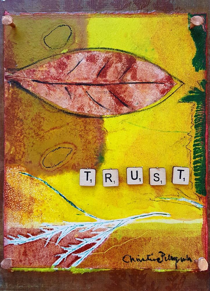 """""""Trust"""" original fine art by Christine Peloquin"""