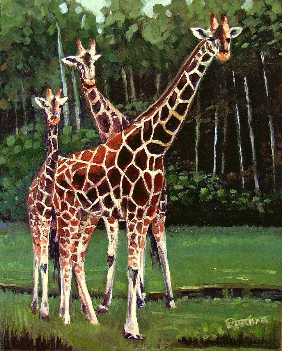 """Family Guardian"" original fine art by Joanna Bingham"