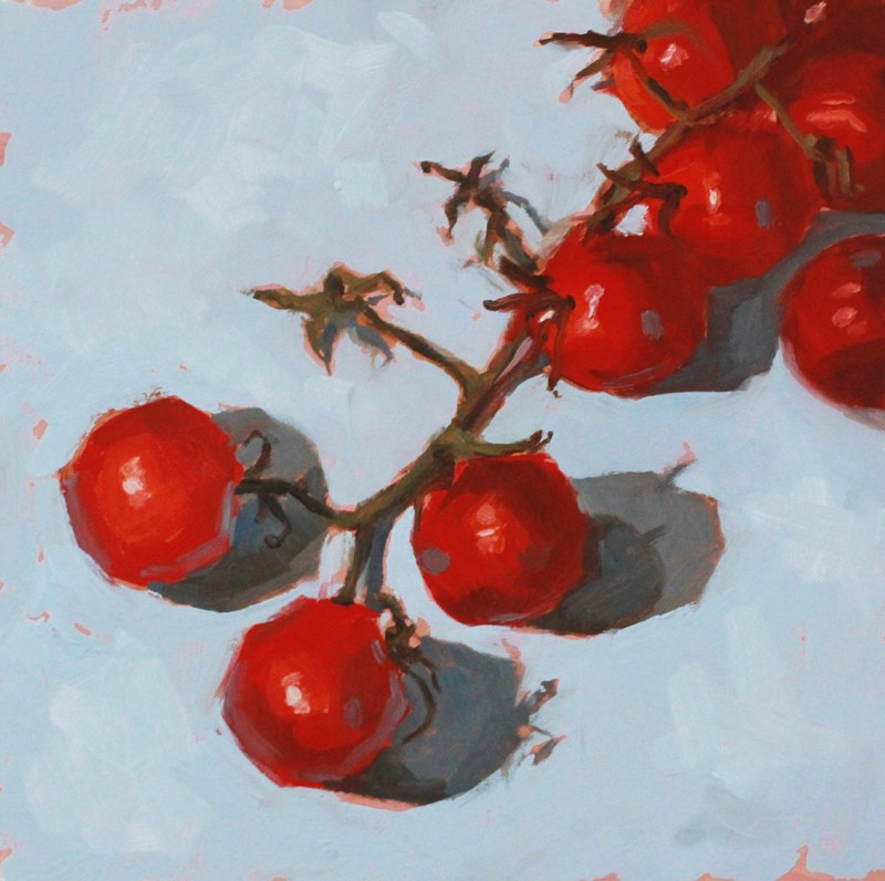 """Tomatoes on the Vine"" original fine art by Nealy May Riley"