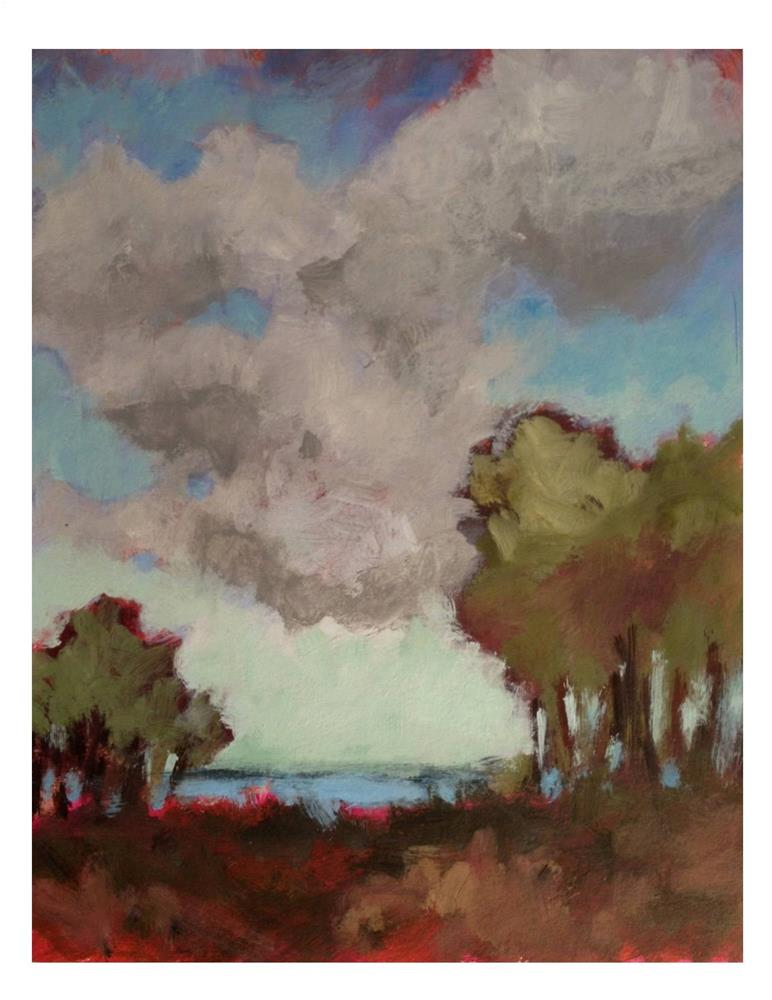 """Clouds and Trees"" original fine art by Suzanne Woodward"