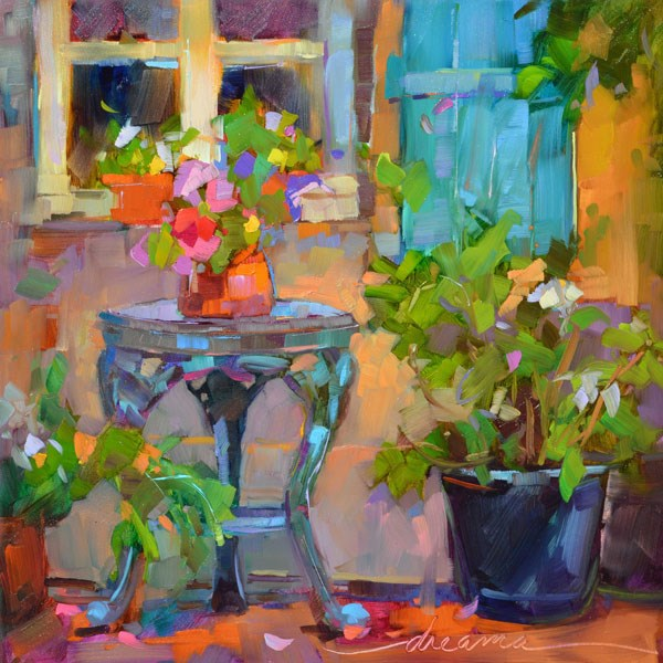 """""""Pieces of France"""" original fine art by Dreama Tolle Perry"""