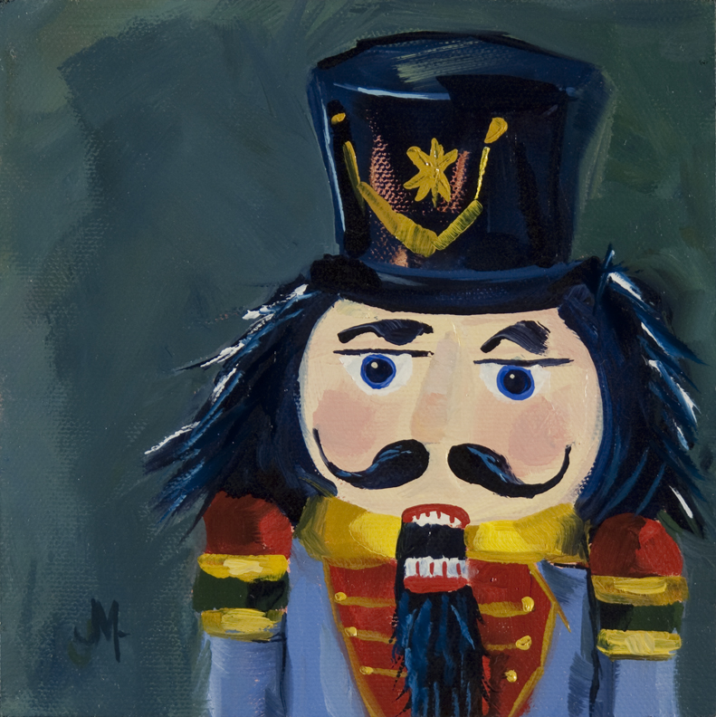 """Ahhh Nutcracker"" original fine art by - JanettMarie"