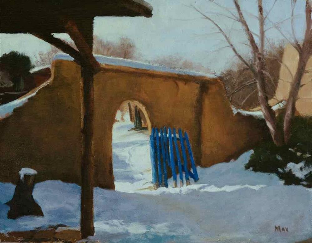 """Taos Blue Gate"" original fine art by max moss"