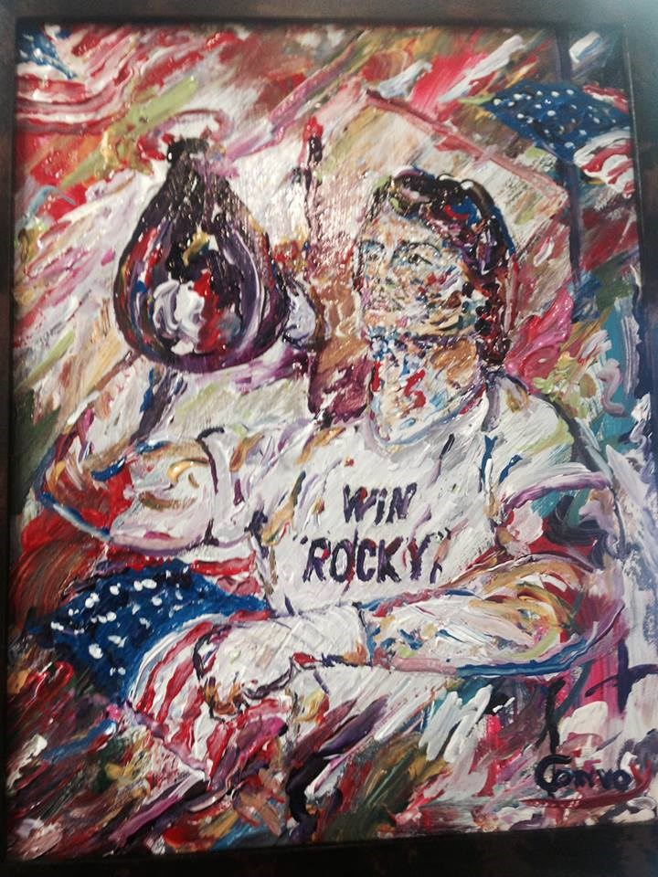 """Yo Rocky"" original fine art by mark convoy"