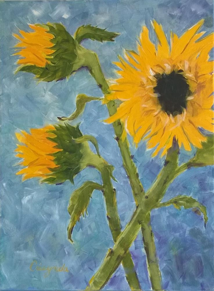 """Sunflower"" original fine art by Crisynda Buss"