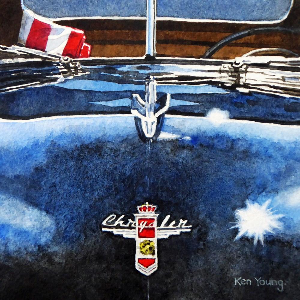 """""""Chrysler"""" original fine art by Ken Young"""