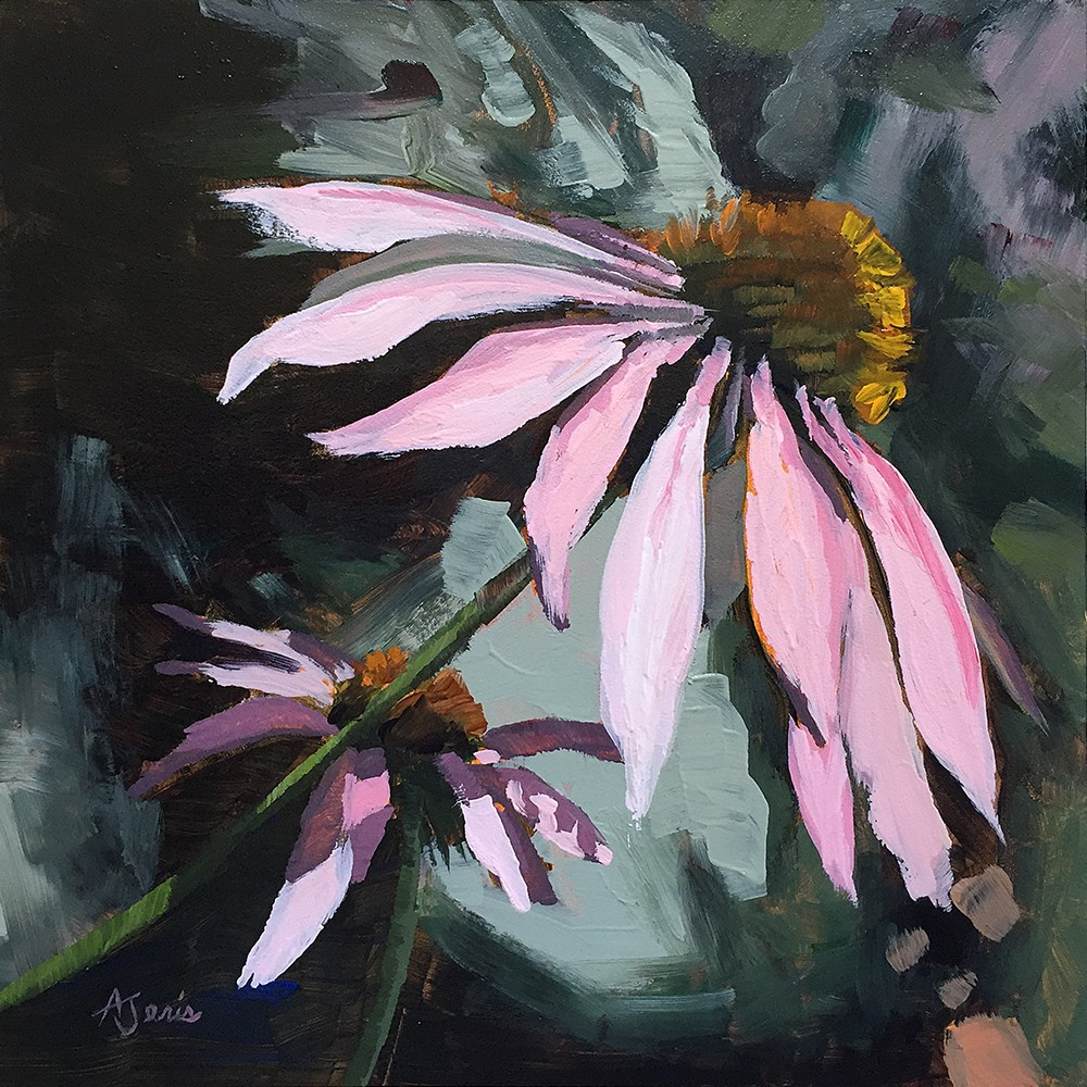 """Coneflowers"" original fine art by Andrea Jeris"