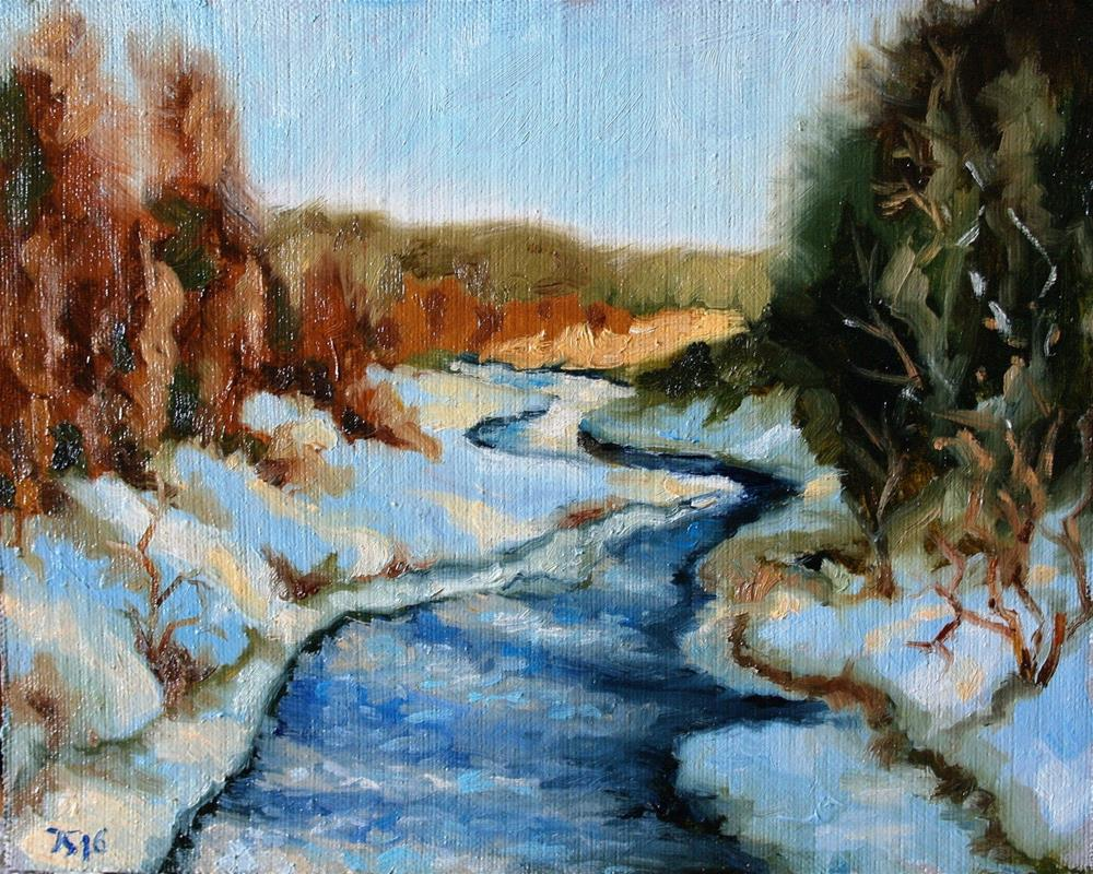 """spring river"" original fine art by Juri Semjonov"