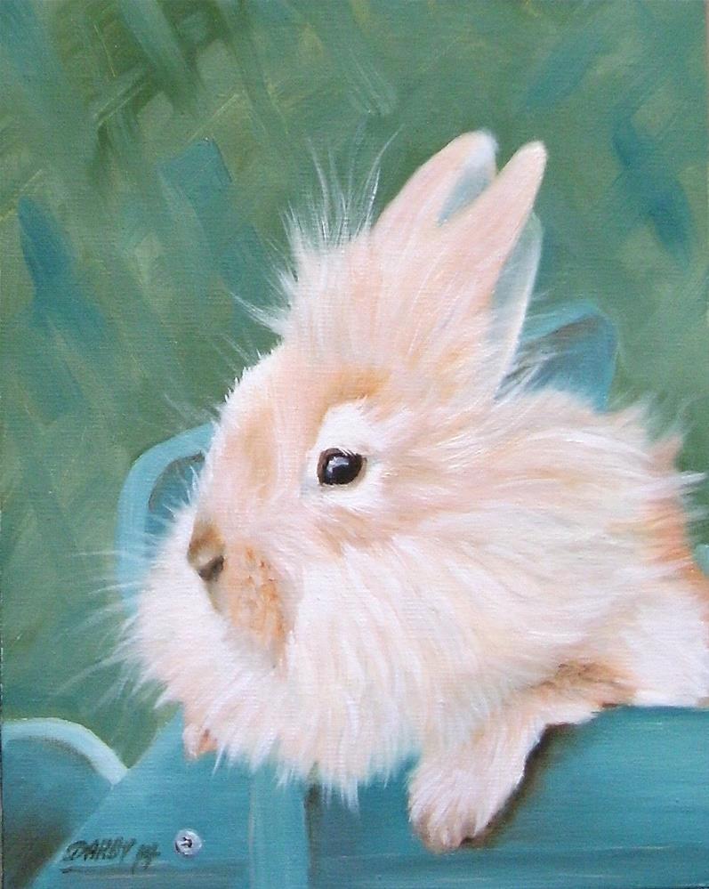 """A Bunny for Easter"" original fine art by Lynn Darby"