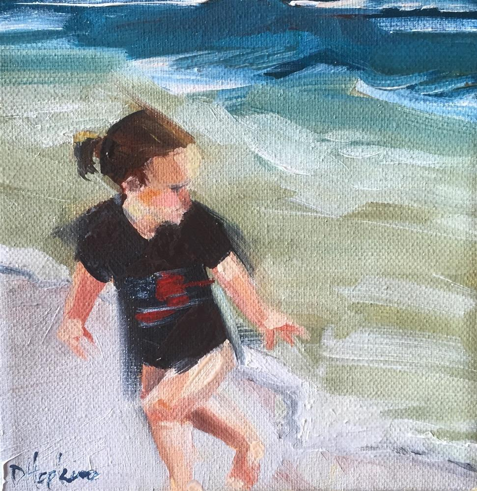 """Chasing Waves"" original fine art by Denise Hopkins"