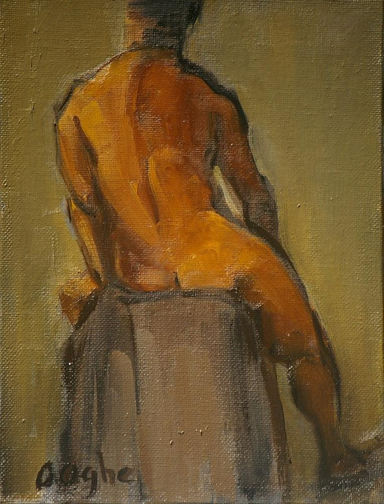 """Male Back"" original fine art by Angela Ooghe"