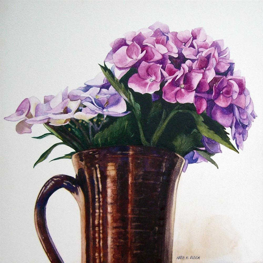 """Hydrangea II"" original fine art by Kara K. Bigda"