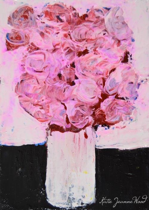 """Floral No 242"" original fine art by Katie Jeanne Wood"