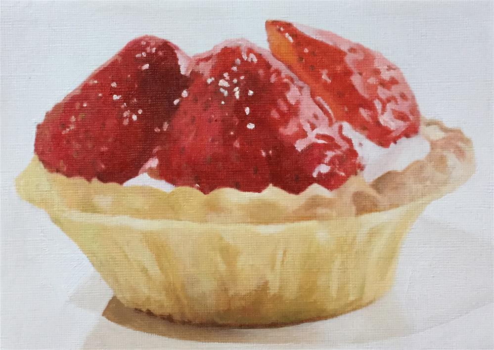 """Strawberry Tart"" original fine art by John Cameron"