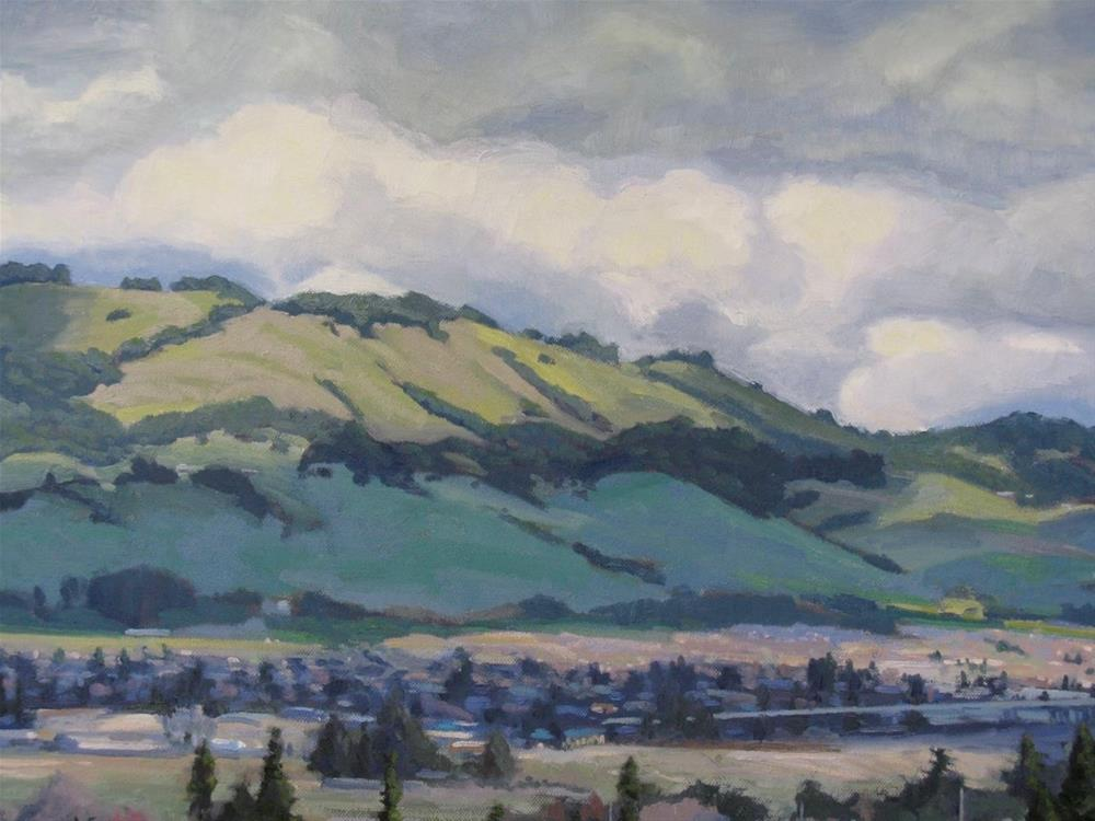 """Passing Shadows Over Petaluma"" original fine art by Wendy Franklin"
