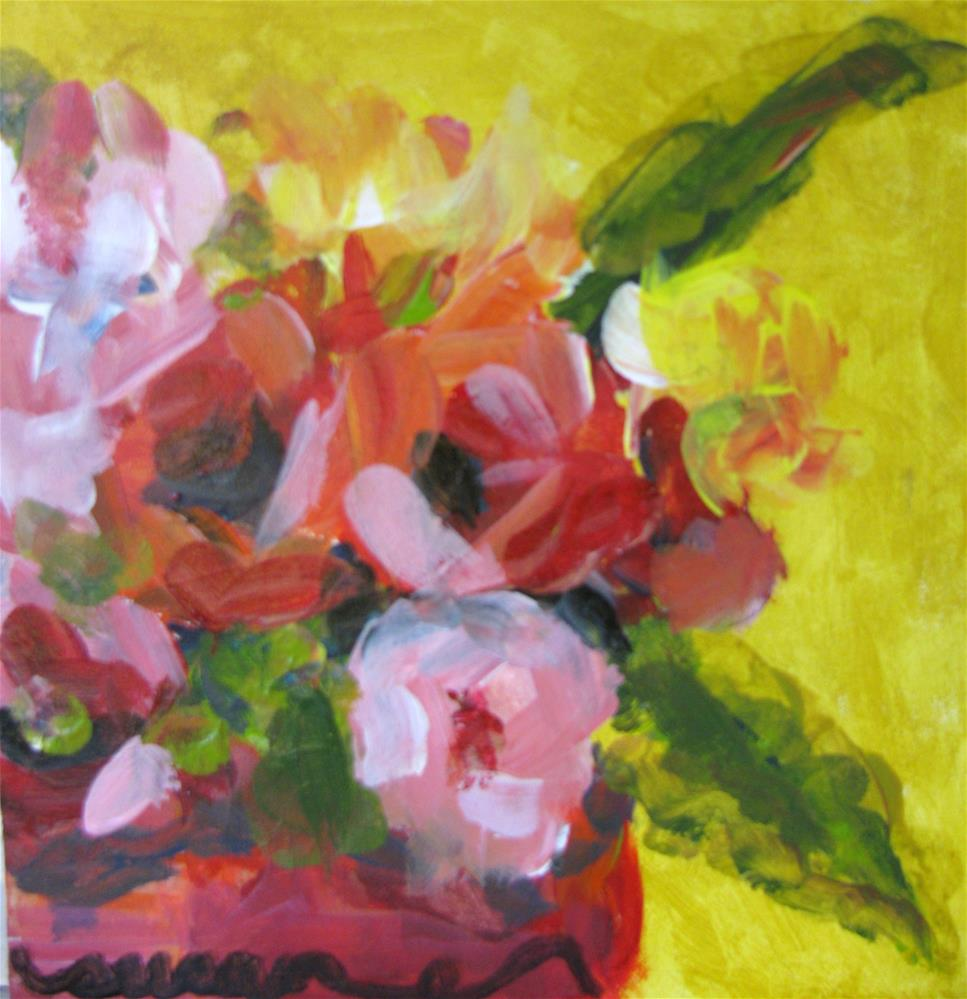 """Bright Floral"" original fine art by Susan Elizabeth Jones"