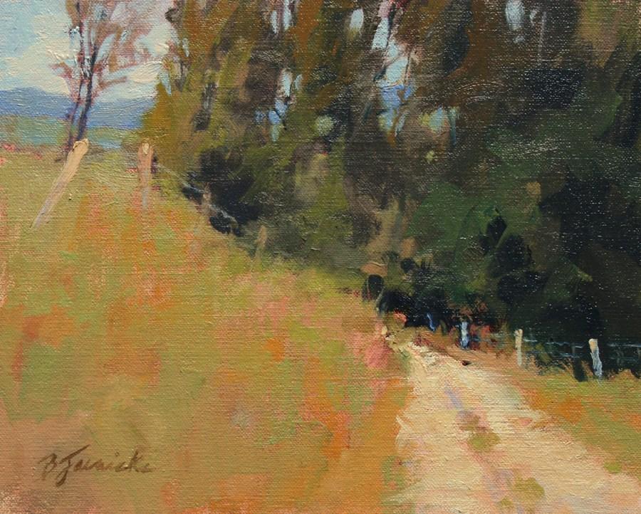 """First Day of October"" original fine art by Barbara Jaenicke"