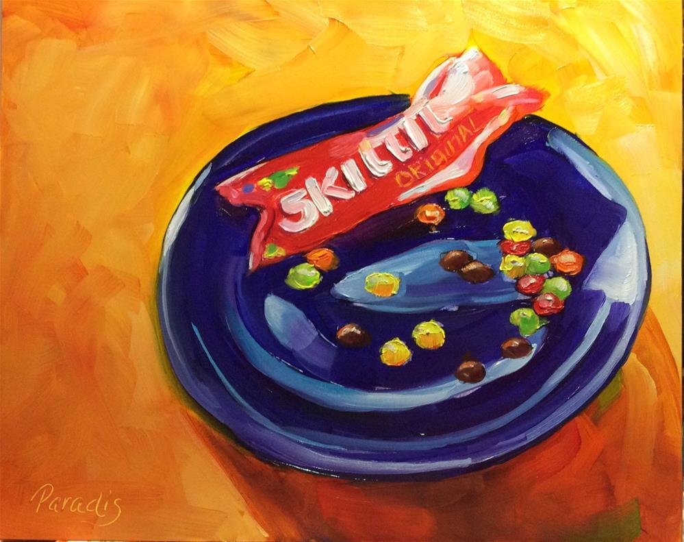 """Skittles"" original fine art by Rita Paradis"