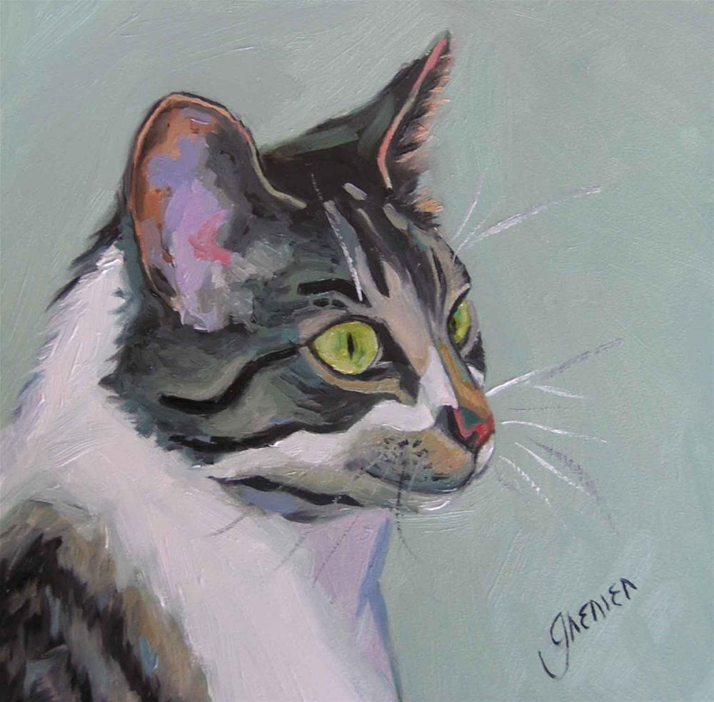 """Wesley the Mouser"" original fine art by jean grenier"