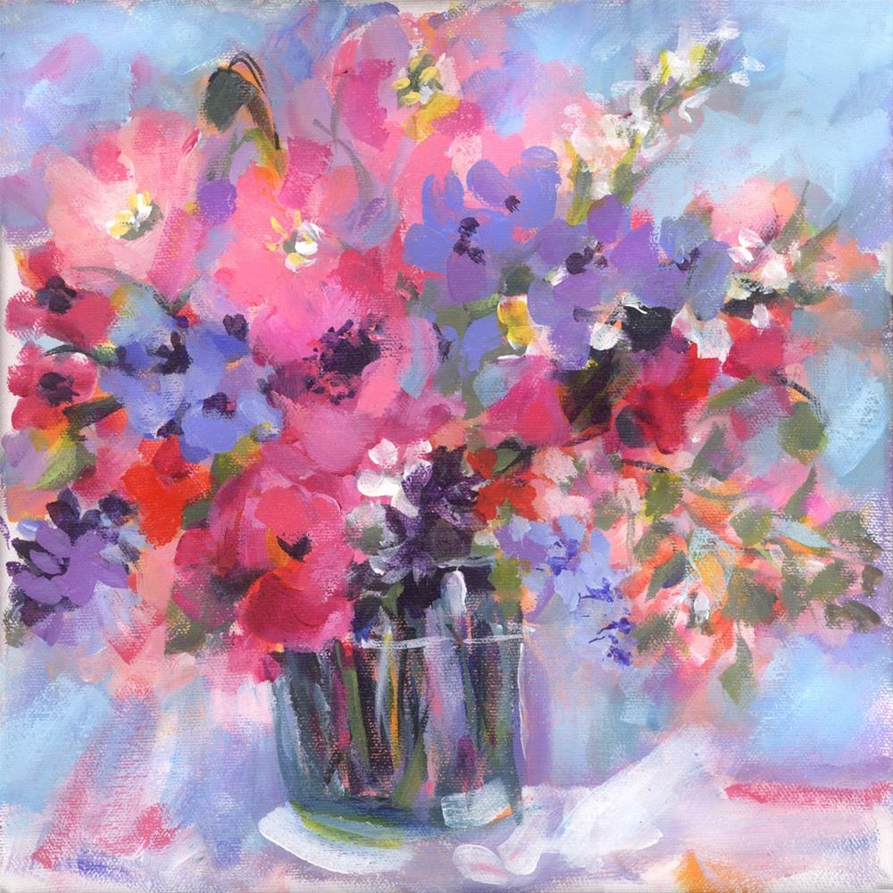 """Bitsy Blooms"" original fine art by Pamela Gatens"