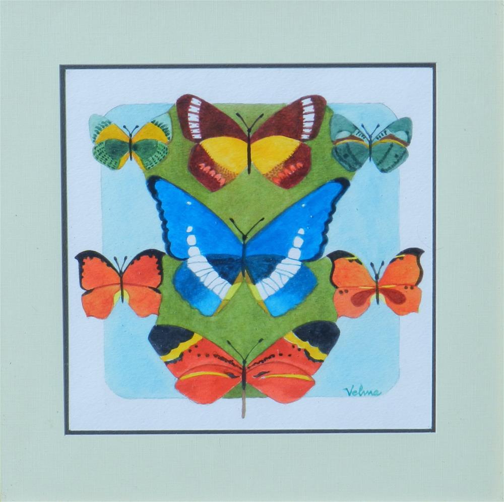 """Butterfly Medley #1"" original fine art by Velma Davies"