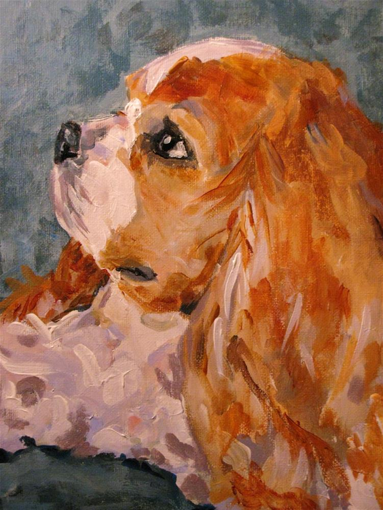 """Puppy Prayers"" original fine art by Susan Elizabeth Jones"