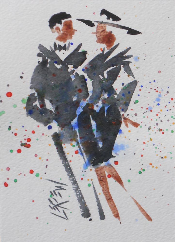 """""""Serendipity Blot Figure #140216 by Larry Lerew"""" original fine art by Larry Lerew"""