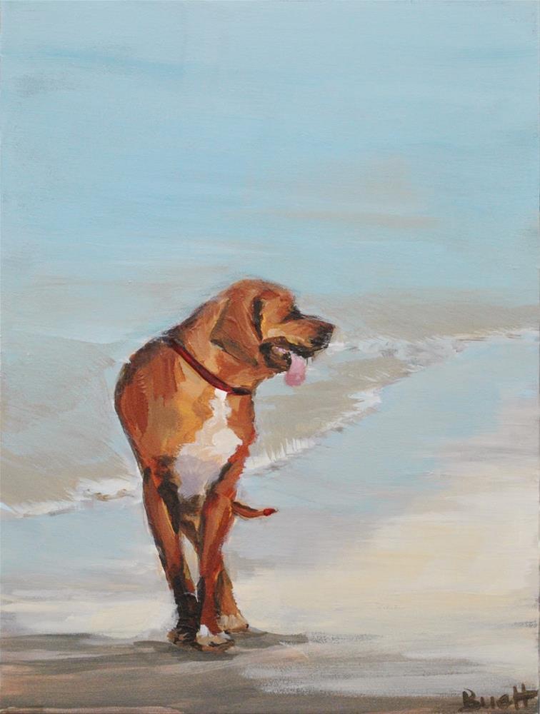 """Beach Dog"" original fine art by Shari Buelt"