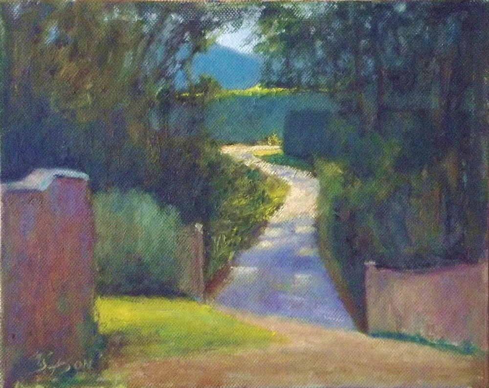 """A walk in the park..."" original fine art by Michael Sason"