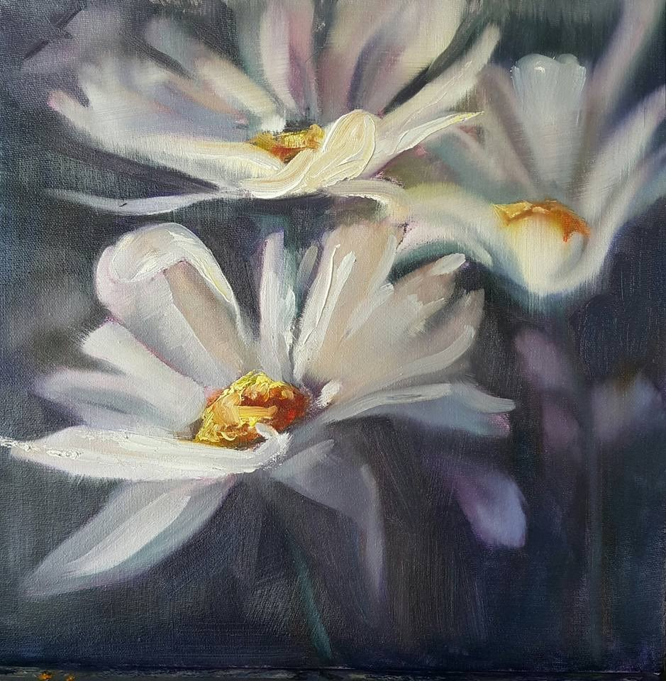 """Oops a daisies miniature"" original fine art by Rentia Coetzee"