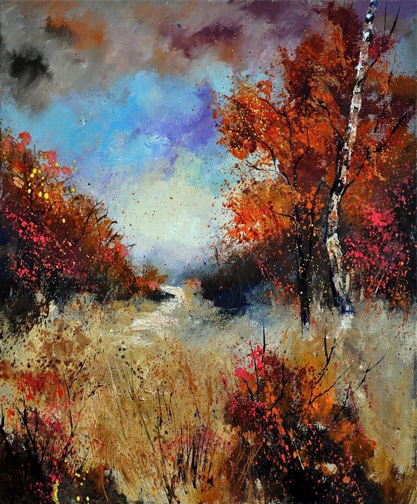 """""""autumn 5641"""" original fine art by Pol Ledent"""