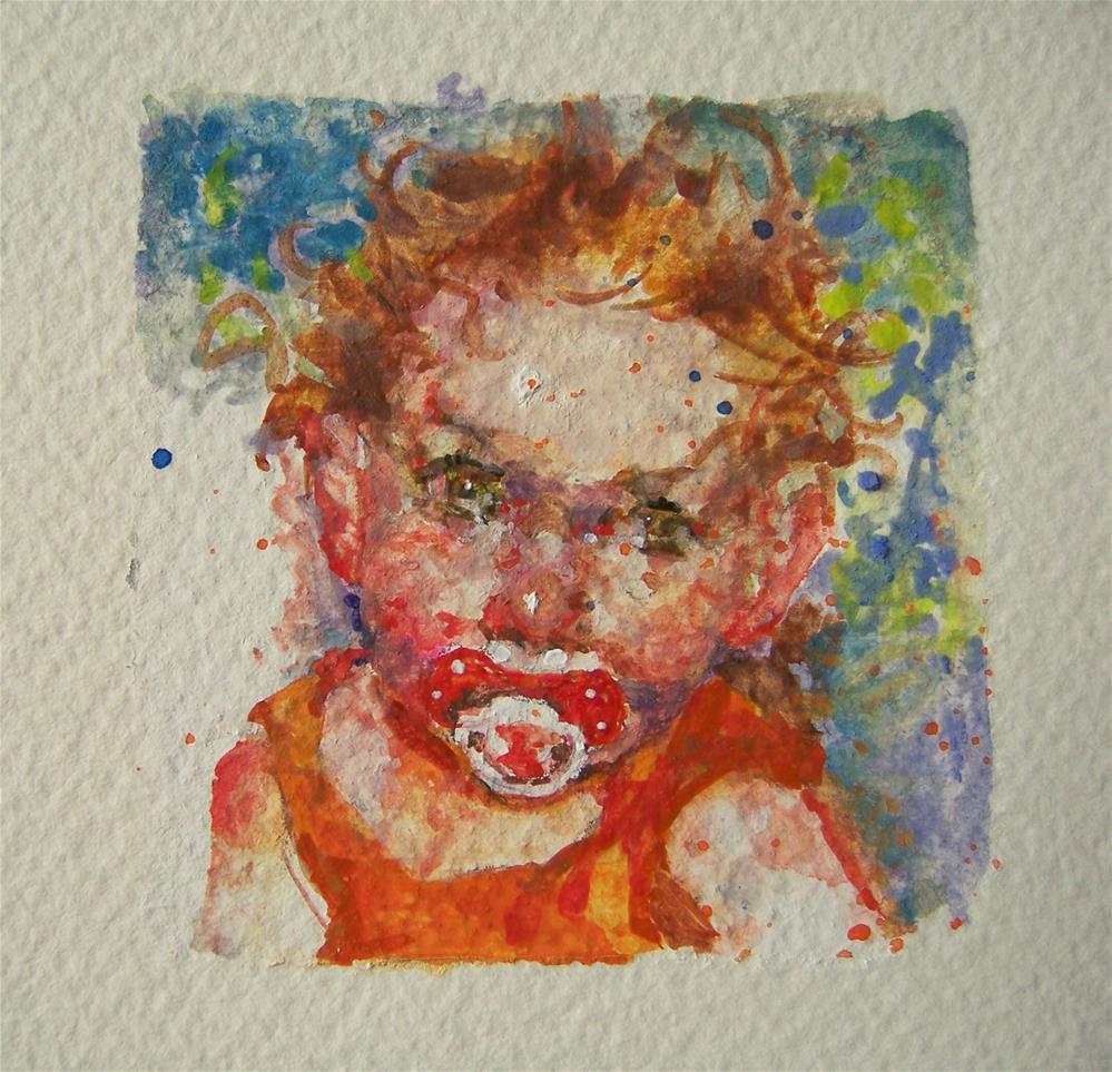 """Red"" original fine art by Kim Roberti"