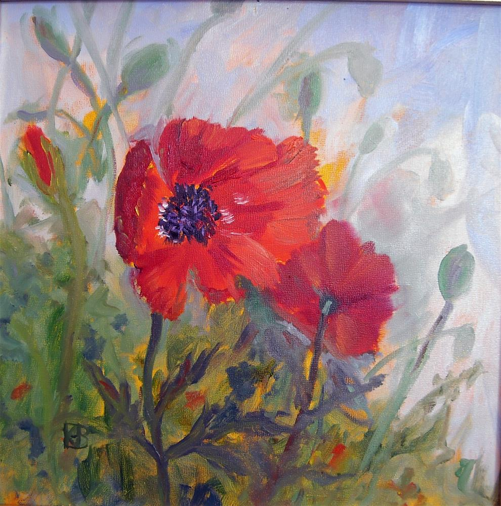 """Augusta Poppies"" original fine art by Kathleen Barnes"
