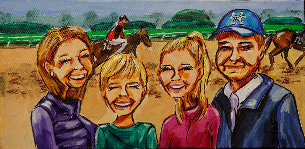 """A Family that Plays Together"" original fine art by Jennifer Koach"
