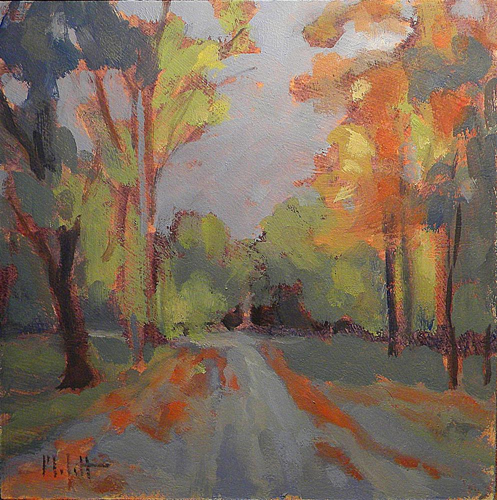 """Early October Morning Autumn Landscape Painting Impressionism"" original fine art by Heidi Malott"
