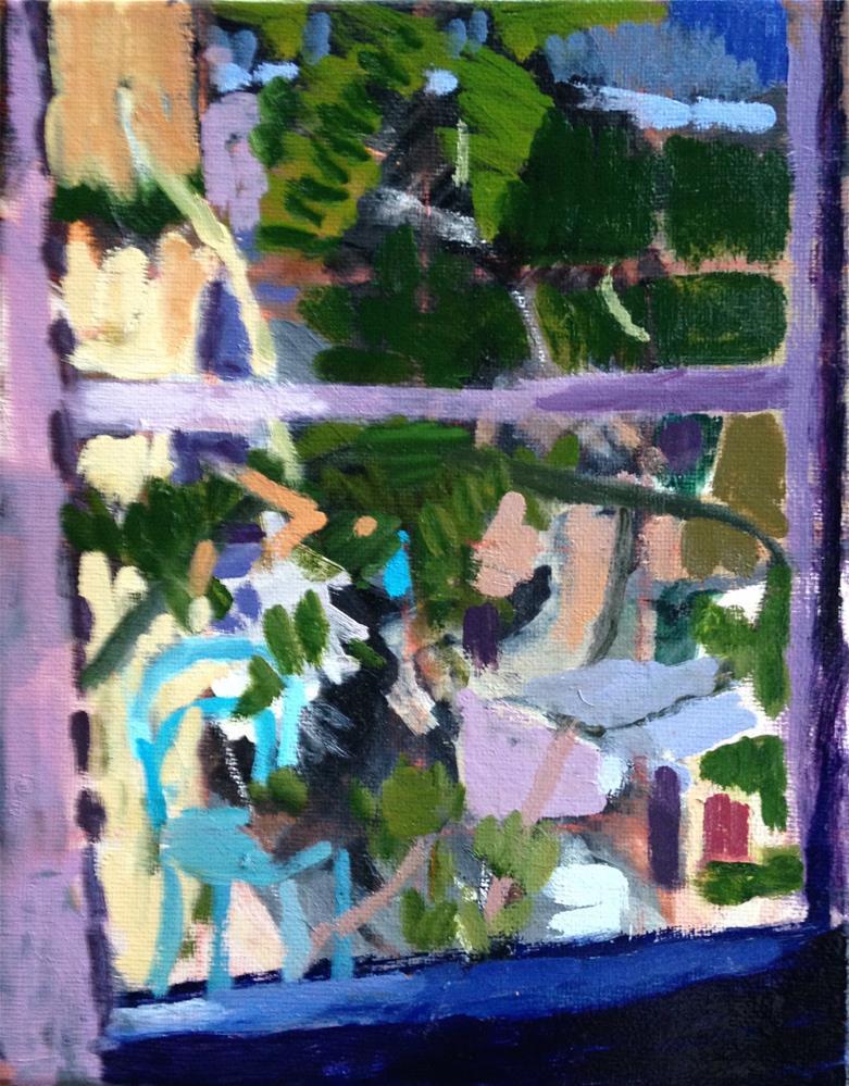 """""""The Wisteria OutsideMy Window"""" original fine art by Pamela Hoffmeister"""