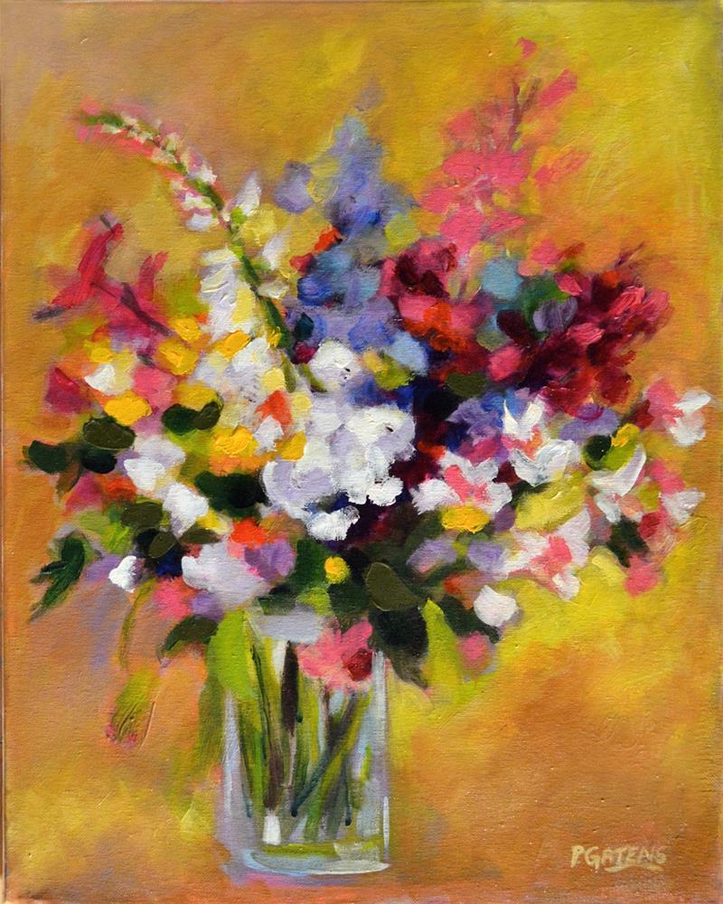 """""""Warm Summer Bouquet"""" original fine art by Pamela Gatens"""