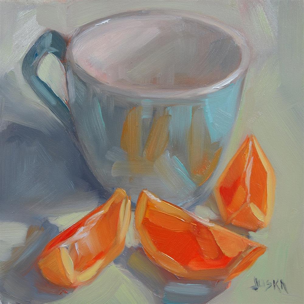 """Morning Compliments"" original fine art by Elaine Juska Joseph"