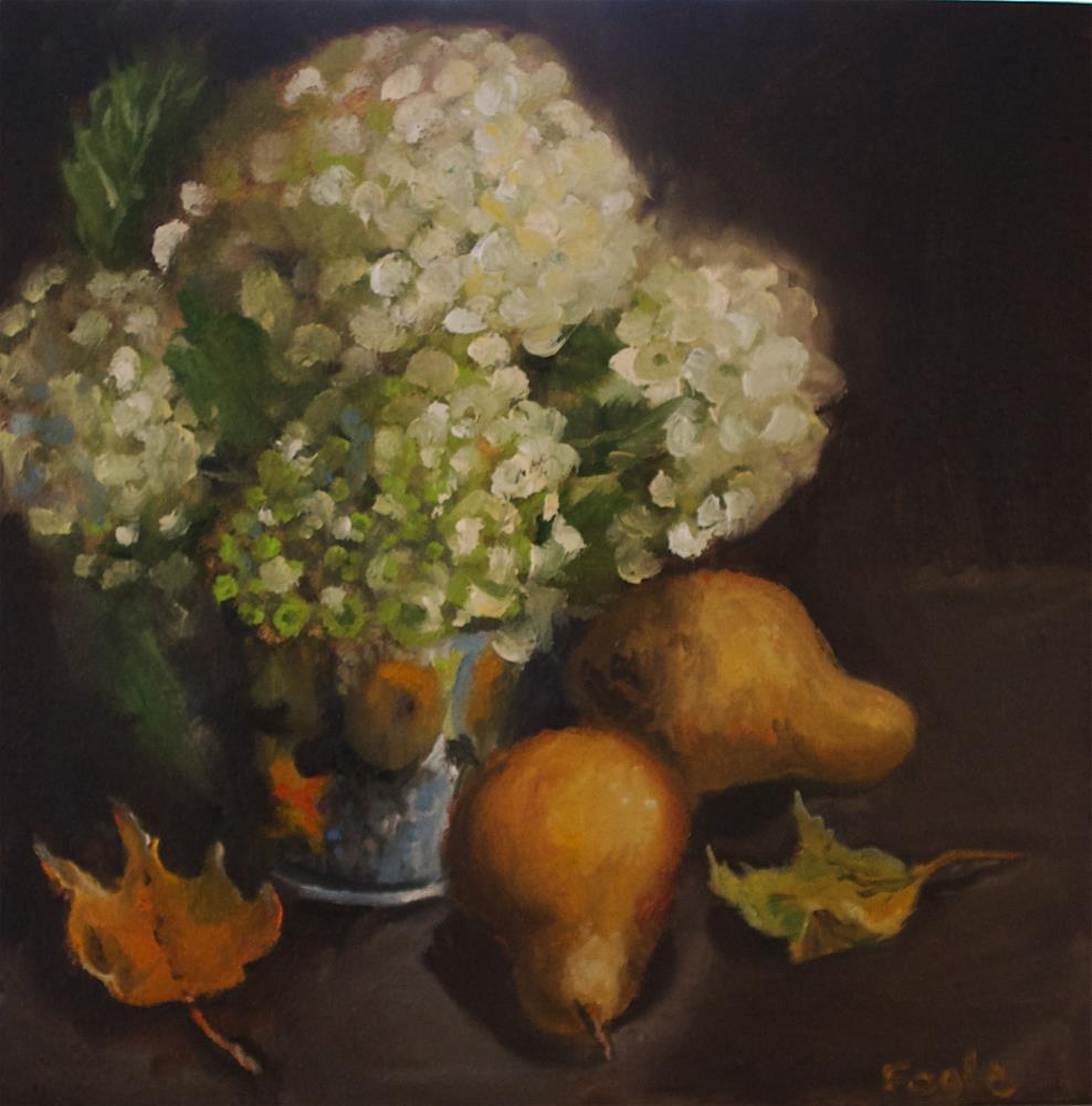 """Fall Hydrangeas"" original fine art by Rachel Fogle"