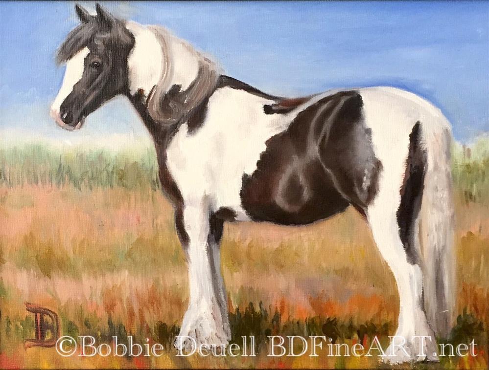 """""""#49 Gypsy Girl"""" original fine art by Bobbie Deuell"""