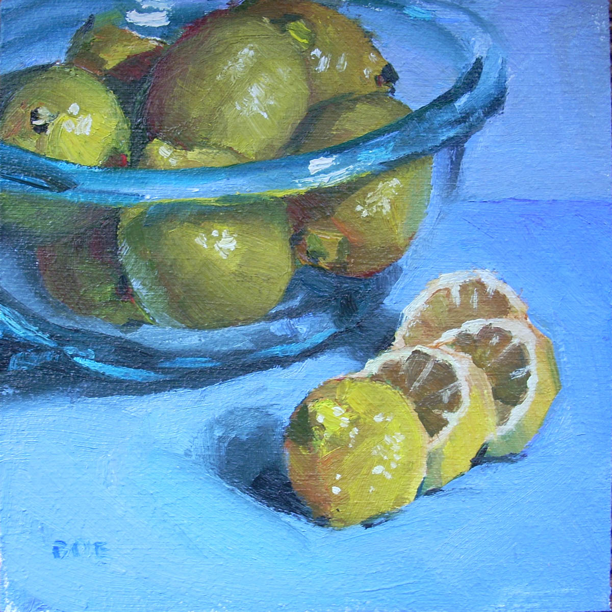 """Lemon Bowl"" original fine art by Karen Boe"