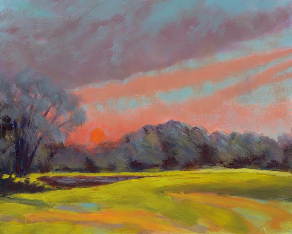 """Evening Glow"" original fine art by Daniel Fishback"