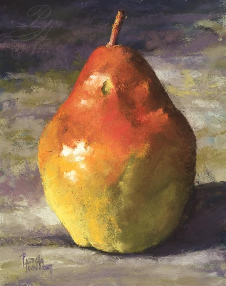 """Study of a Pear"" original fine art by Pamela Hamilton"