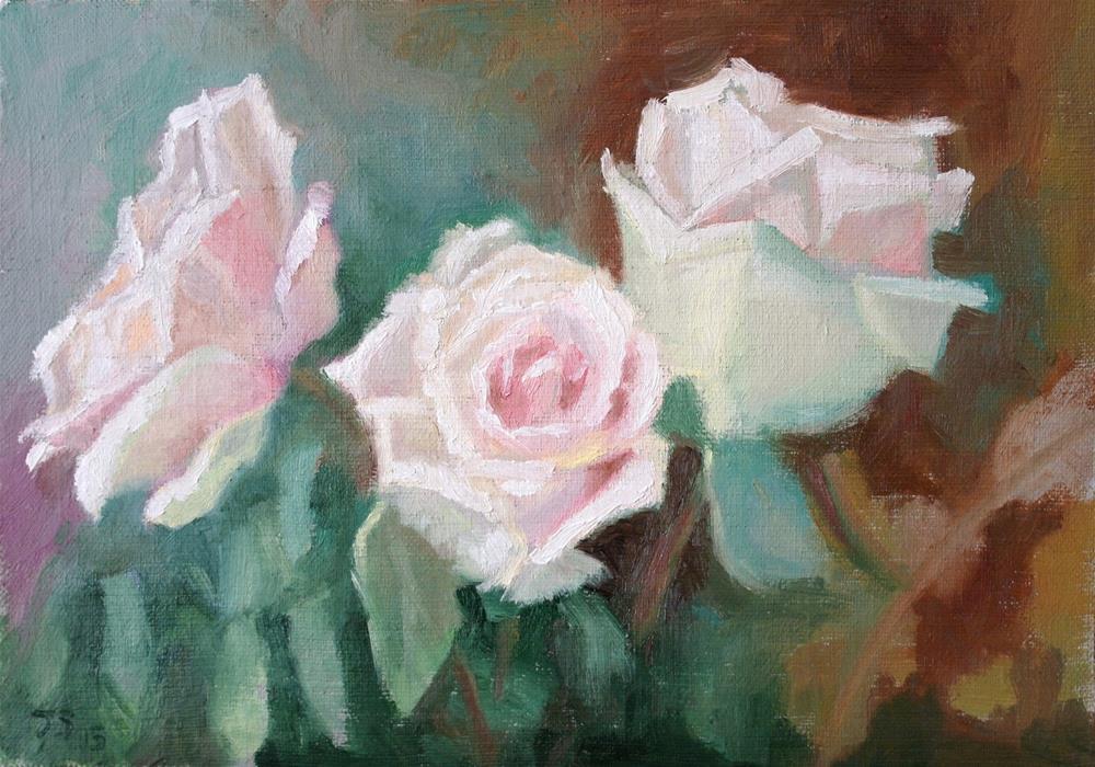 """3 roses"" original fine art by Juri Semjonov"