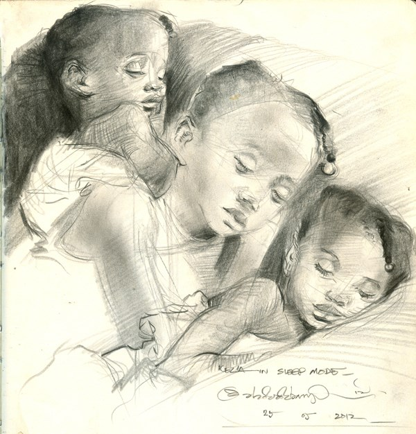 """Kids, Life, Art and Stuff 8"" original fine art by Adebanji Alade"